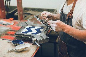 Репортаж с производства цементной плитки Cezzle